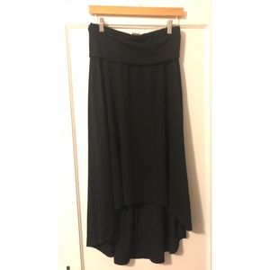 High-low Mossimo black soft skirt